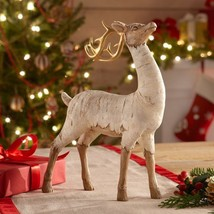 Lenox Driftwood Winter Magic Reindeer Figurine Deer Standing Stag Christ... - $89.00