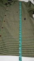 Patagonia Men's Green L short-sleeve button-down checkered Breast Pocket shirt image 5
