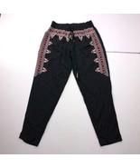 Green Dragon Women's Small Black Printed Pants - $23.74