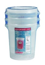 Cambro RFS4PPSW3190 4-Quart Round Food-Storage Container with Lid, Set of 3 - €26,35 EUR