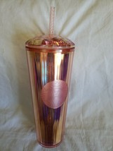 Starbucks Iridescent Rose Gold Tumbler Summer 2020 NEW - $44.99