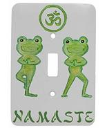 Namaste Yoga Frogs Design Single Toggle Metal Light Switch Cover - $9.26