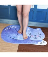Bathroom Anti Slip Mat Cartoon Cat Stylish Bath Living Room Absorbant Ca... - $14.74+