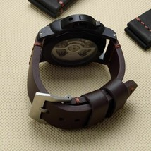 22 24 26mm Black Brown Genuine Leather Watchband For PAM Panerai Pilot Wristband - $38.53