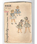 Baby Pinafore Sundress and Hat Vintage I950s Simplicity 4413 Sewing Patt... - $15.00