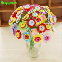 Happyxuan DIY Felt Button Flower Craft Kits Kindergarten Kids Creative Toys - $28.25