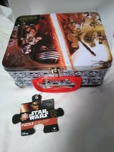 Disney Star Wars The Force Awakens 100 Piece Puzzle In Tin Lunch Box NEW - $17.81