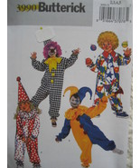 Butterick 3990 Clown Pattern Halloween Costume Child 6 to 8 - $9.31 CAD