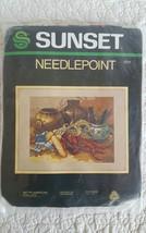 1982 Sunset Native American Still Life 6224 Needlepoint Kit From Saga Collection - $19.99