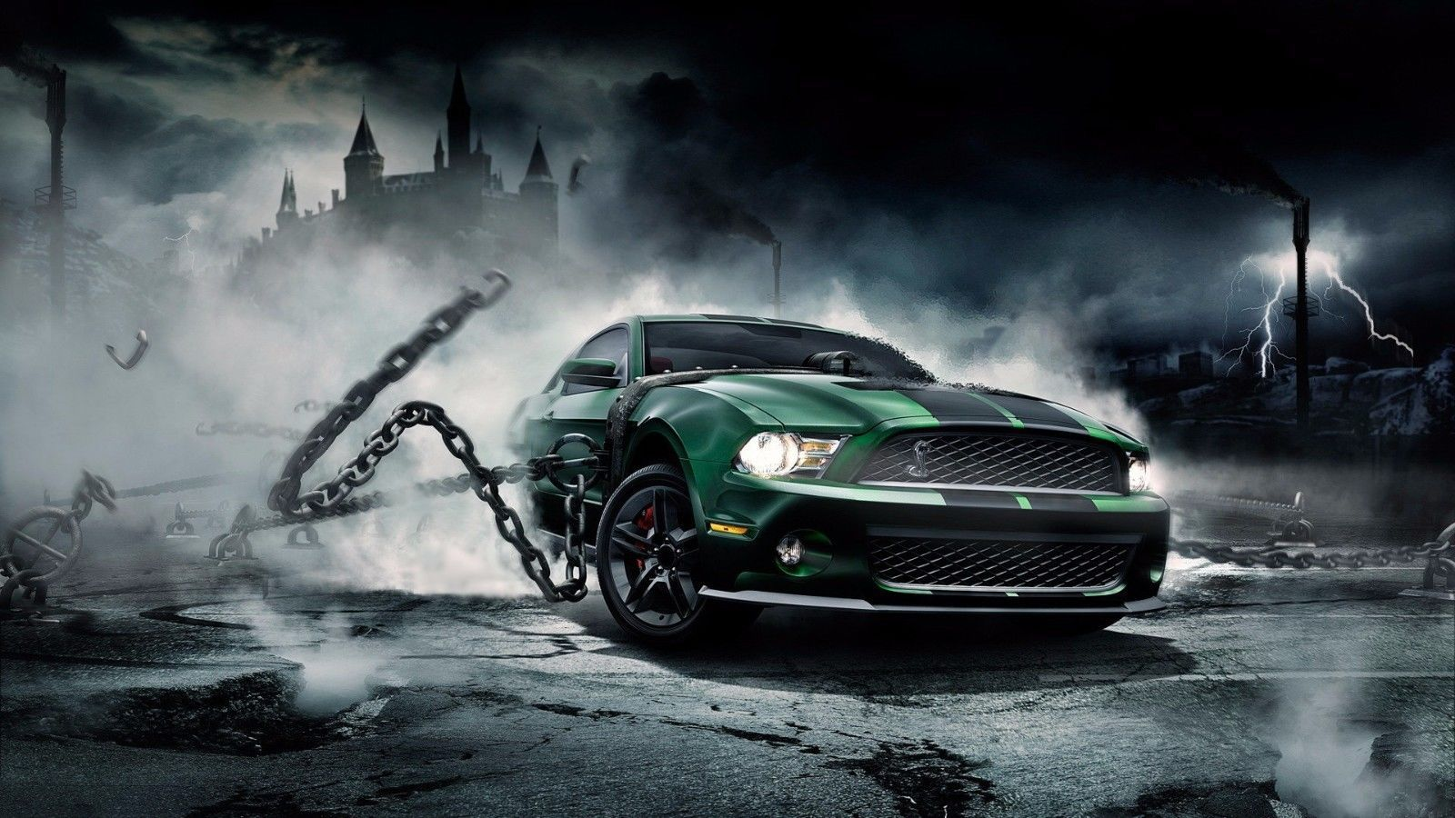 Primary image for 2012 FORD MUSTANG GT Cobra chains 24X36 inch poster, sports car, muscle car