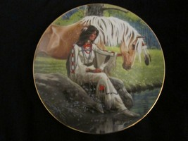 PRAIRIE FLOWER collector plate DAVID WRIGHT horse NATIVE Princesses of P... - $14.99