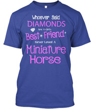 Miniature Horse - Whoever Said Diamonds Are A Girl's Hanes Tagless Tee T... - £17.45 GBP