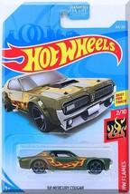 Hot Wheels - '68 Mercury Cougar: HW Flames #2/10 - #164/250 (2019) *Green* - $2.50