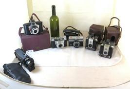 5 Old Cameras A Cine Camera Canon Ferrania Eura Kodak Brownie Agfa BM54 - $126.46