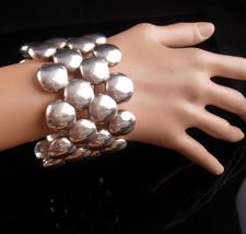 HUGE Sterling Bracelet - couture modernist bangle - Israel 925 - stateme... - $425.00
