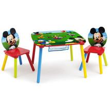 Disney Chair Table Set Kids Toddler Playing Furniture Mickey Mouse Stora... - $67.24