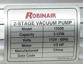 Robinair VacuMaster 15500 HVAC High Performance Two Stage Vacuum Pump image 5