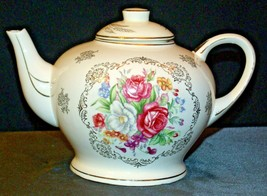 Porcelain China Teapot with Lid AA-191966 Vintage Japan