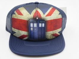 Doctor Who Flag Blue Hipster Vintage Trucker Snapback Hat  - $8.50