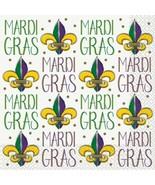 Jazzy Mardi Gras Lunch Napkins 16 ct - $3.95