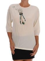 Dolce & Gabbana White SICILY Crystal Blouse - $678.21