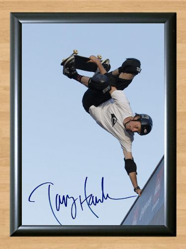 Tony Hawk Skateboad Skate Skater Hawks Signed Autographed A4 Print Photo Poster