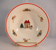 The Joy Of Christmas Rimmed Cereal Bowls Jamestown China Bells Angels Lo... - $18.56