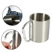 Steel Mug Portable Stainless Coffee Tea Cup Outdoor Camping Hiking Trave... - $9.99