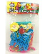 45 Piece Party Pack Plastic Letters Numbers Tools Accessories For Playdo... - $14.83