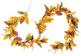 CraftMore Fall Oak Leaf with Berries Garland 6' image 1