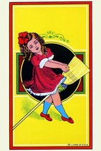 Broom Girl Broom Label - Art Print - $19.99+