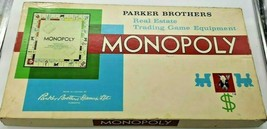 Vintage Monopoly Game 1961 Parker Brothers Board Game - $11.00