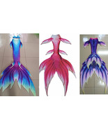 Girls Kid Adult Women Mermaid Tail With Monofin Summer Vacation Cosplay ... - $99.99+