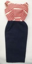 Vintage Barbie Cruise Stripes #918 Dress w/ TM Label  175-11 - $32.00