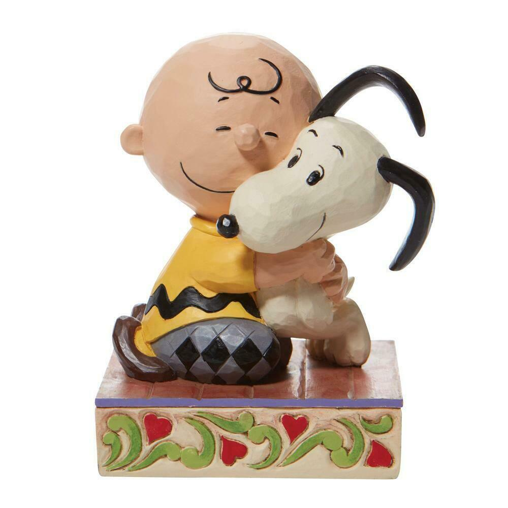 """Beagle Hug"" a Charlie Brown and Snoopy Figurine - Jim Shore Peanuts Collection"