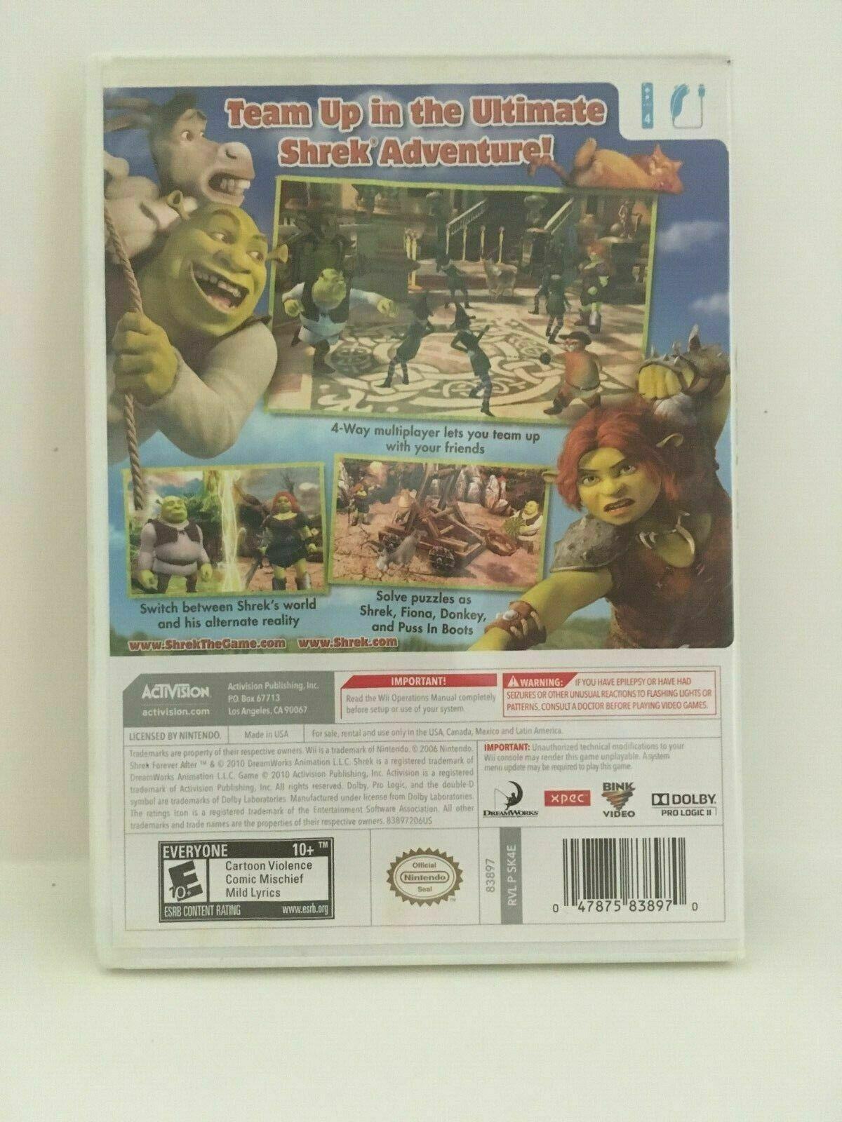 Shrek Forever After: The Final Chapter (Nintendo Wii, 2010) CIB, USA Seller image 3
