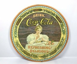 "Vintage 1976 Coca Cola 75th Anniversary Tin Tray 12"" - Hilda Clark No. 5... - $28.45"