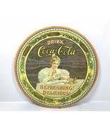 """Vintage 1976 Coca Cola 75th Anniversary Tin Tray 12"""" - Hilda Clark No. 5... - $28.45"""