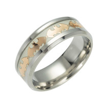 Glow in the Dark Gold Batman Ring Titanium Stainless steel Silver Ring Band - $12.99