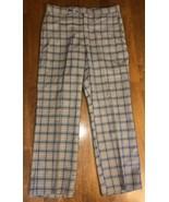 """VTG 60s Sansabelt Jaymar Slacks Pants Plaid Rockabilly Golf Retro W 34"""" ... - $51.65"""