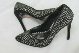 Betsey Johnson Size 6 M FAAWNN Black Heels Pumps Studded Shoes  - $59.40