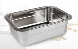 Incoc Stainless Steel Basin Bucket Dishpan Dish Washing Bowl Basket (Large) image 4