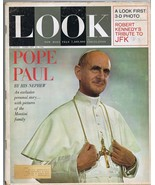 ORIGINAL Vintage Look Magazine February 25 1964 Pope Paul JFK Tribute - $18.49