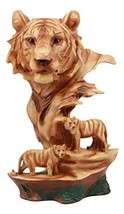 """Ebros Large Bengal Tiger Bust Statue 11.75""""Tall Faux Wood Resin Tiger Fa... - $51.26"""