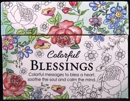 Colorful Blessings Cards to Color & Share God's Love Peace Joy Note Card... - $9.36