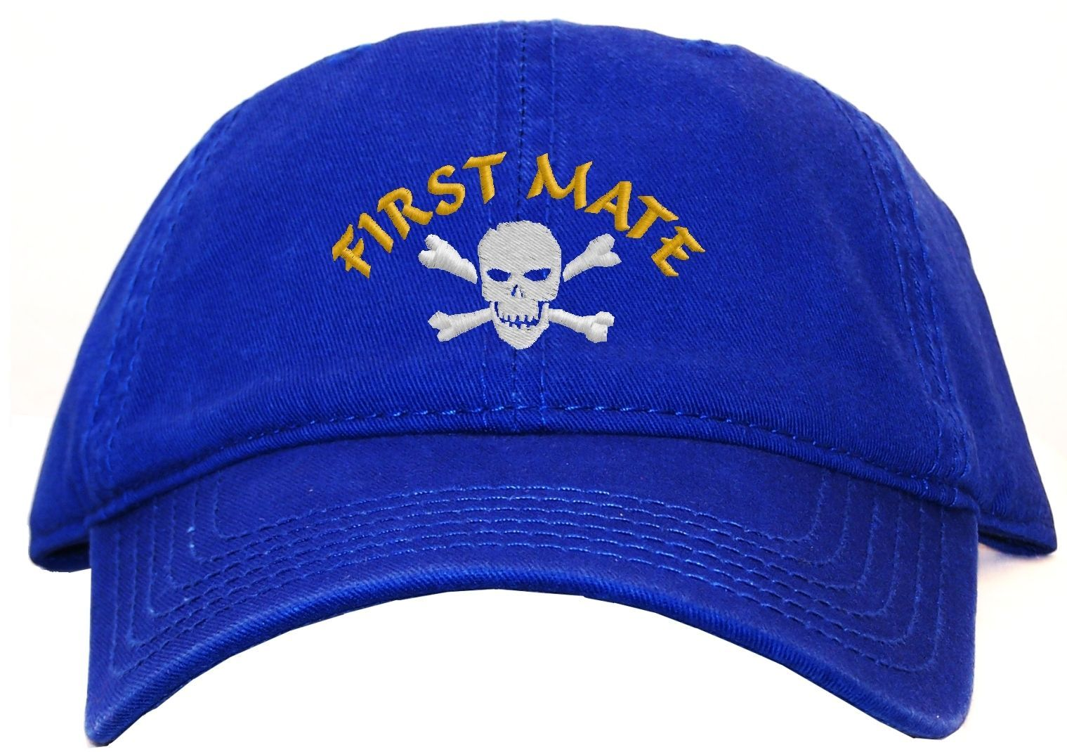 Pirate First Mate Embroidered Low Profile Ball Cap - Available 7 Colors - hat