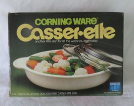 Corning Casser-ette, P-14, Individual Covered Casserole, 14 oz - $11.00