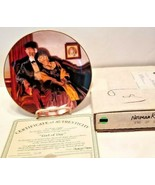 """Vintage Edwin M.Knowles Norman Rockwell Collector Plate """"End of Day"""" - $17.33"""