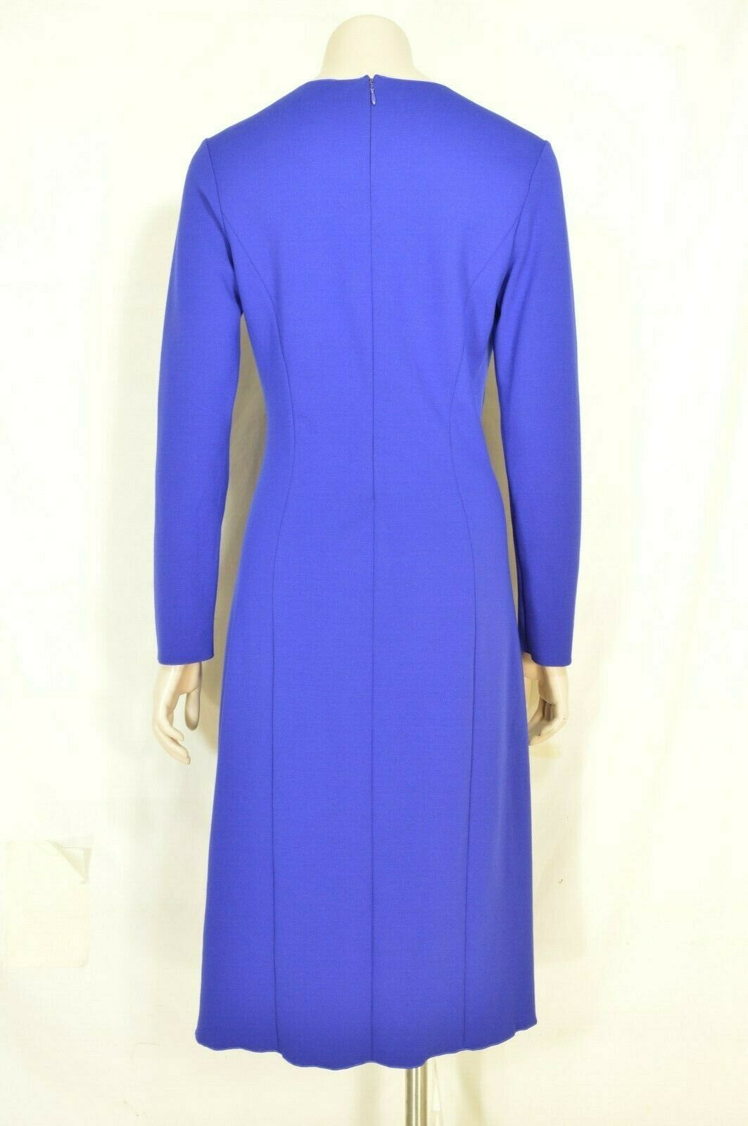 Armani Collezioni dress US 8 IT 4 royal blue faux wrap ruching long sleeve Italy