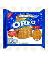 Nabisco Gingerbread Oreo Cookies CHRISTMAS LIMITED EDITION 10.7 OZ EXP 0... - $13.85